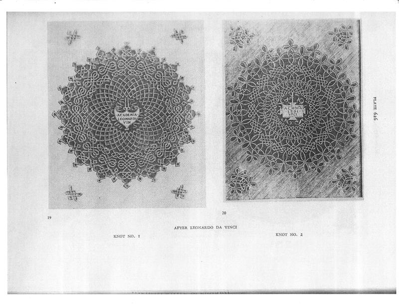 daVinci Plate Knots 1 and 2
