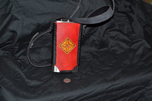 tall red 12oz flask holder