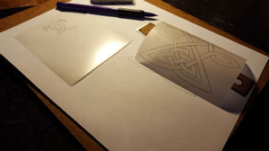drawing on the transfer film