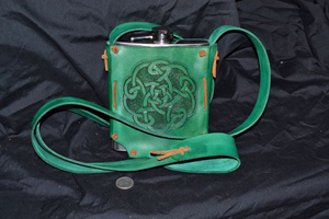 K10, green, 18oz flask